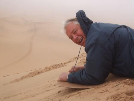 Også Jan-Ernst satte utfor, og ifølge han selv var topp farten på rundt 60 km/t...
